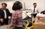 Bị quay clip tố lên mạng, đình chỉ 8 hải quan sân bay Nội Bài