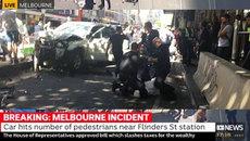 Xe điên lao thẳng vào đám đông tại Melbourne