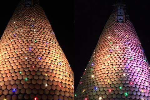 Cây thông Noel bằng nồi đất ở Nghệ An