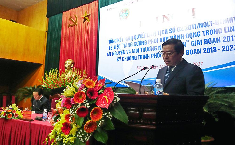 Bộ TN&MT,Hội Nông dân Việt Nam,Trần Hồng Hà