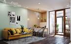 Ấn tượng chung cư hiện đại với điểm nhấn sắc vàng ấm áp cho mùa Đông