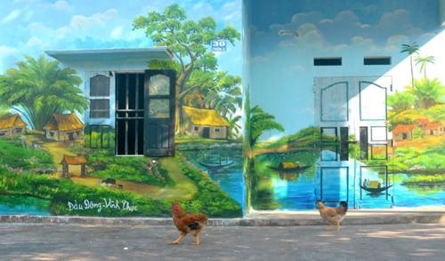 Làng bích họa đẹp như cổ tích ở Quảng Ninh