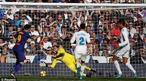 Real Madrid 0-1 Barcelona: Suarez ghi bàn phút 54