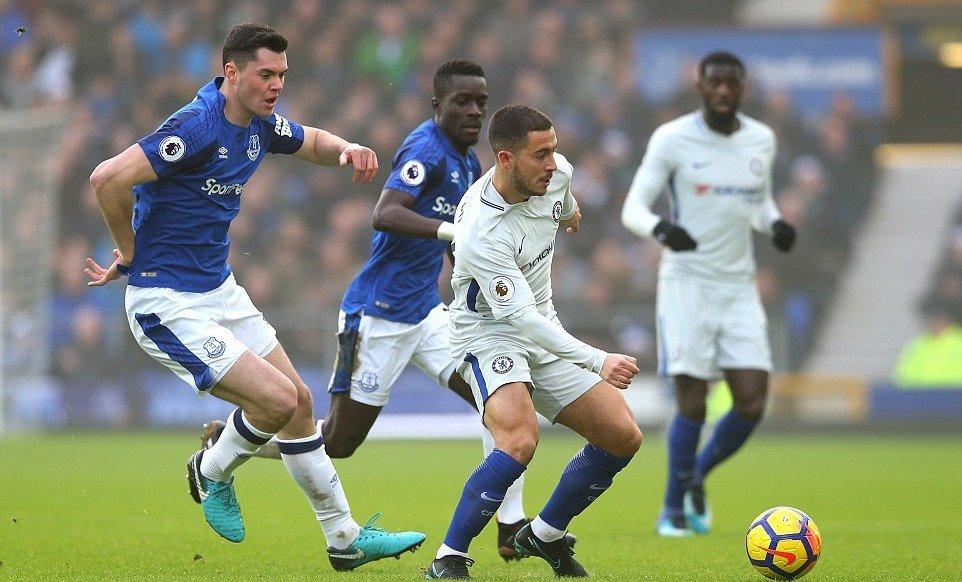 Bị Everton cưa điểm, Chelsea 'ngửi khói' Man City