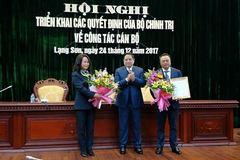 Bí thư Lạng Sơn về làm Phó Ban Kinh tế TƯ, Chủ tịch PVN