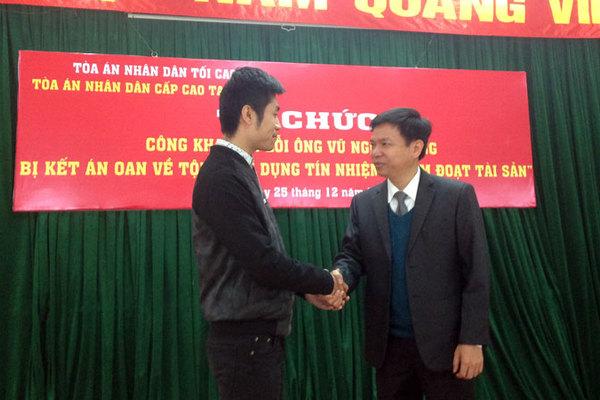 Xin lỗi công khai thanh niên Hà Nội bị tù oan 30 tháng