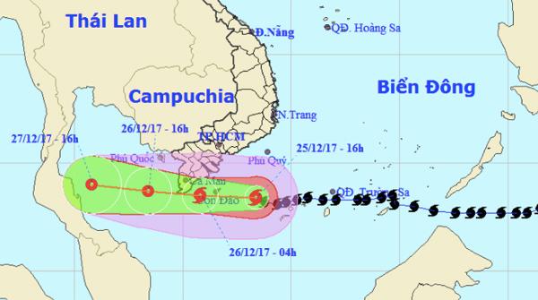 Bão Tembin vào Cà Mau - Kiên Giang, Nam Bộ mưa to