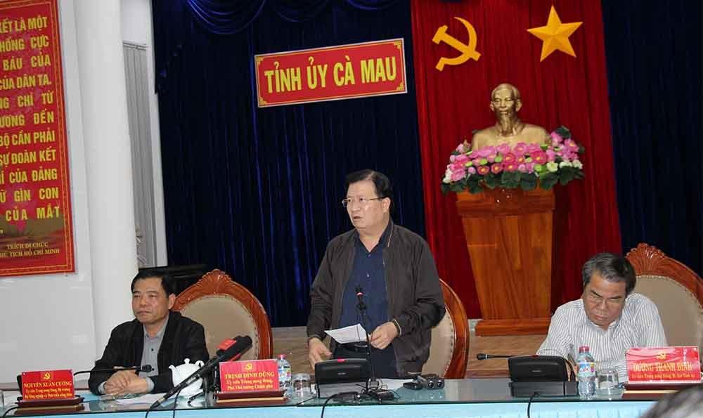 Bão số 16: Phó Thủ tướng Trịnh Đình Dũng thị sát các tỉnh Tây Nam Bộ