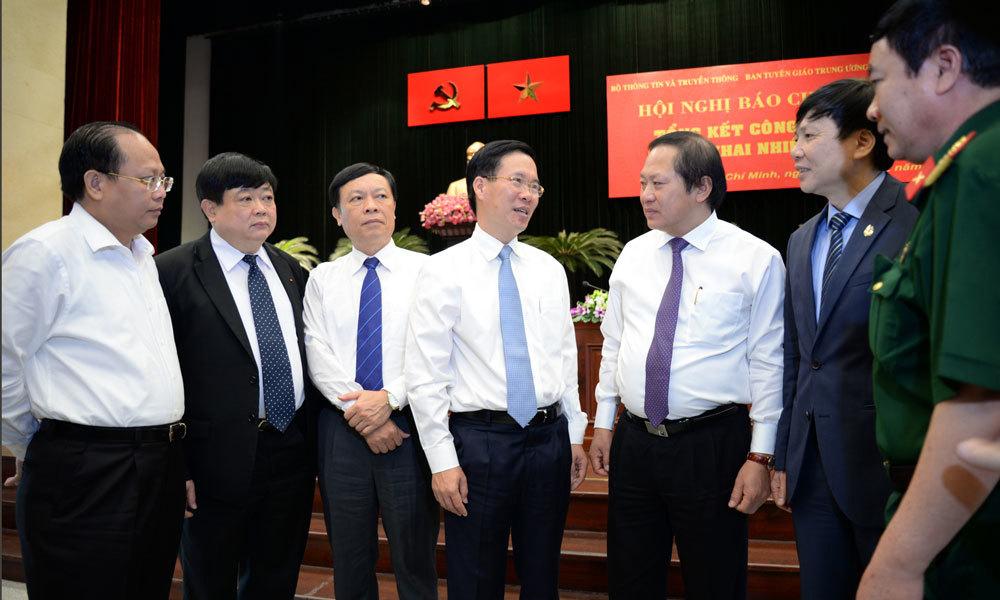 Võ Văn Thưởng,Trương Minh Tuấn,Ban tuyên giáo TƯ,báo chí