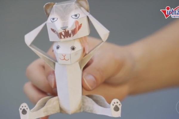 Tròn mắt với đồ chơi xếp giấy đầy sáng tạo của người Nhật