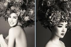 Hoa hậu Giáng My, Hà Kiều Anh chụp ảnh ngực trần nóng bỏng