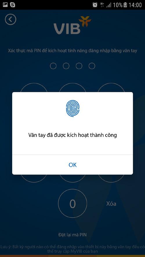 Khách hàng VIB có thể xác thực giao dịch bằng FaceID