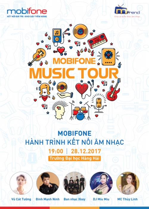 Vũ Cát Tường 'cháy rực' trong đêm nhạc của MobiFone