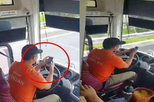 dùng điện thoại khi lái xe,lướt mạng,tai nạn,lái xe bất cẩn