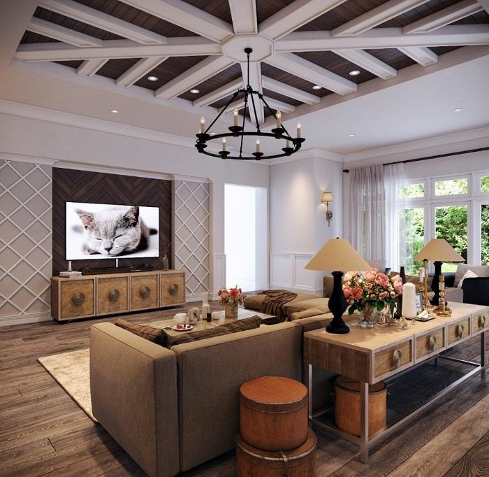 Nội thất phòng khách 2017: phong cách thượng lưu lên ngôi