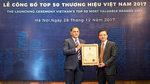MobiFone nhận giải Thương hiệu đắt giá Việt Nam 2017