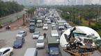 Tai nạn 4 ô tô, đại lộ Thăng Long ùn tắc cục bộ