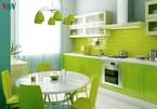 Làm mới không gian sống với nội thất màu xanh lá cây