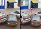 """Loay hoay """"vào chuồng"""", nữ tài xế phá hoại ô tô bên cạnh"""