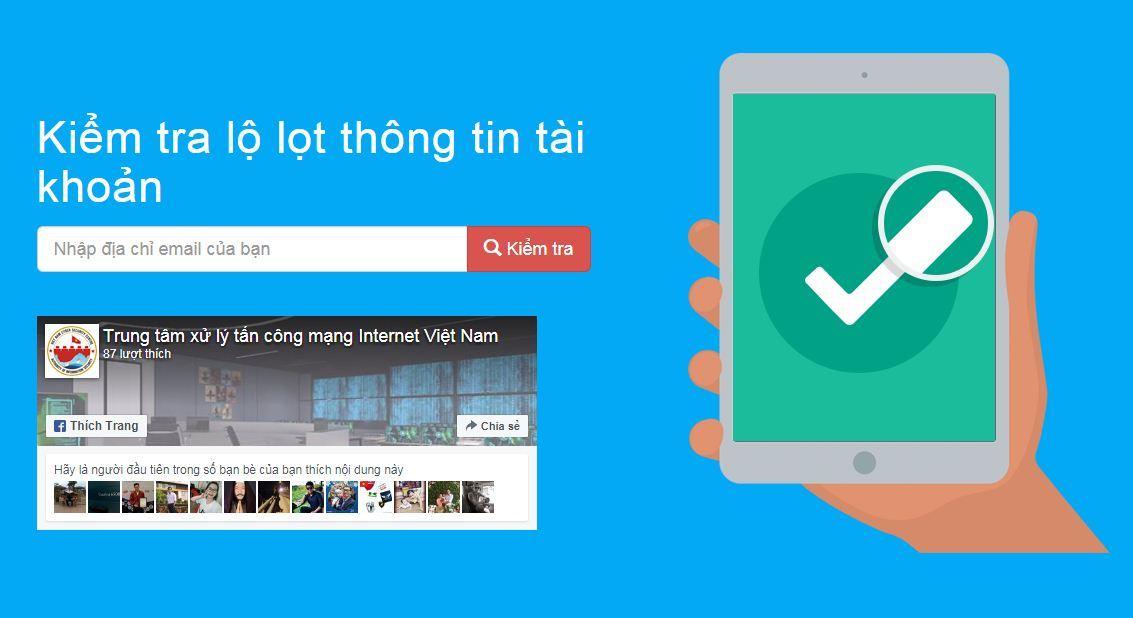 437.000 tài khoản mạng xã hội dùng email .vn bị lộ
