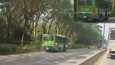 Xe buýt thản nhiên chạy ngược chiều trên phố Sài Gòn