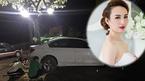 Hoa hậu Ngọc Diễm hốt hoảng khi bị tai nạn ô tô