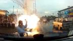 10 clip 'nóng': Chập điện nổ tung toé dây rớt xuống đầu người đàn ông