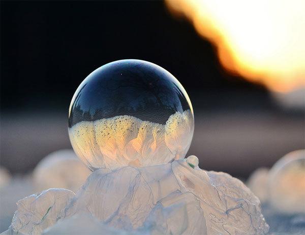 Điều kỳ diệu với bong bóng xà phòng ở -35 độ C