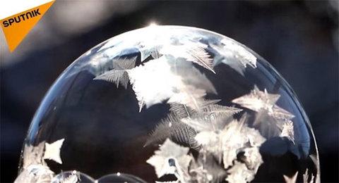 Bong bóng xà phòng khi -35 độ C