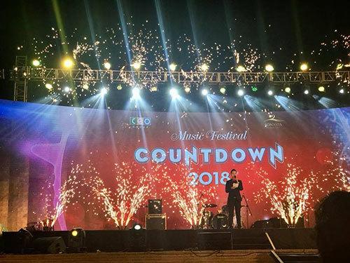 Countdown ấn tượng tại Sonasea Shopping Center, Phú Quốc