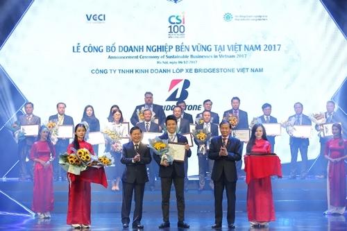 Bridgestone Việt Nam đạt Top 100 DN phát triển bền vững 2017