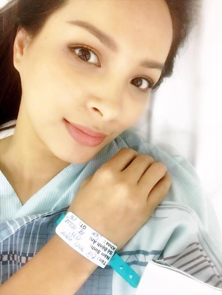 Cựu người mẫu Thuý Hạnh đã phẫu thuật cắt bỏ khối u