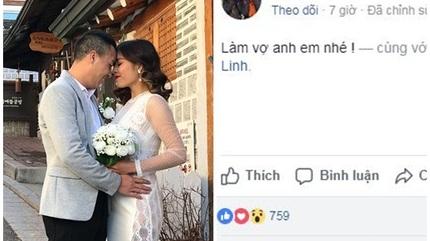 Bạn trai cầu hôn MC Hoàng Linh 'Chúng tôi là chiến sĩ'