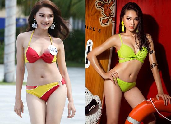 Thí sinh hoa hậu hoàn vũ Việt Nam lộ eo ngấn mỡ