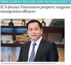 Phan Van Anh Vu đang trên máy bay từ Singapore về Hà Nội