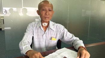 Chồng ung thư, vợ bệnh âm thầm chịu đựng