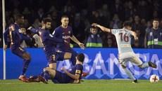 Vắng Messi, Barca đánh rơi chiến thắng trước Celta Vigo