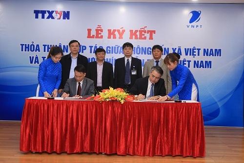 VNPT ký kết hợp tác với Thông tấn xã Việt Nam