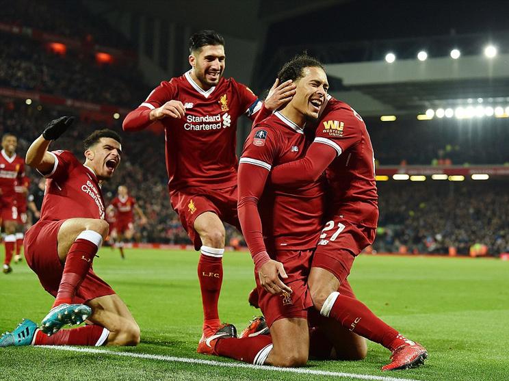 Van Dijk 'nổ súng' trận ra mắt, Liverpool hất cẳng Everton