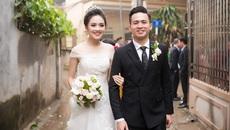Tố Như diện váy cưới đính kim cương trong hôn lễ cùng hot boy cảnh sát