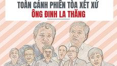 Toàn cảnh phiên tòa xét xử ông Đinh La Thăng