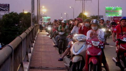 Hiện tượng hoàng hôn kỳ thú ở Sài Gòn