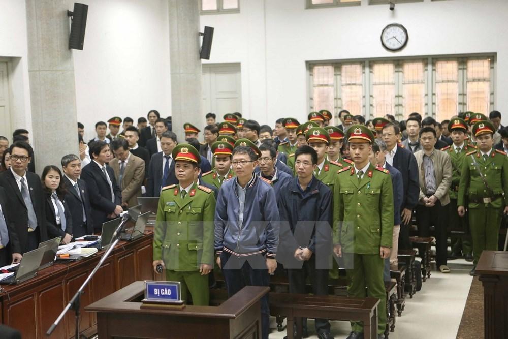 Xét xử ông Đinh La Thăng, Trịnh Xuân Thanh và đồng phạm. Ảnh: TTXVN
