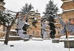 Xem cao thủ Thiếu Lâm Tự tập võ giữa trời tuyết