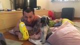 Tùng Min trêu chọc chú cún cưng cực nhắng nhít