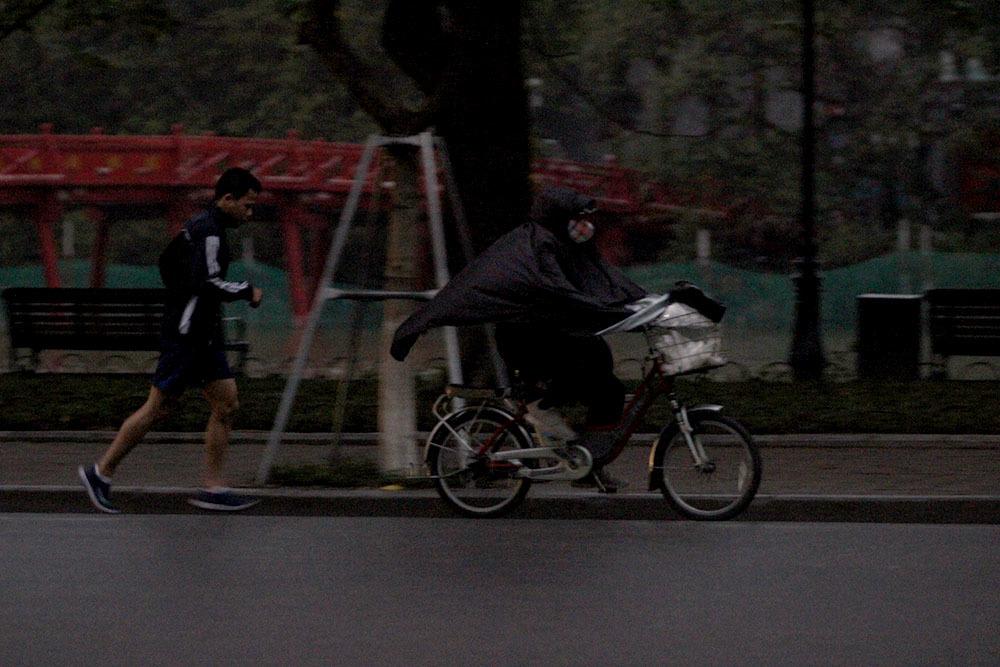 Hà Nội,tập thể dục,không khí lạnh,giá rét