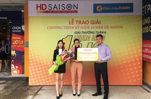 Lộ diện khách hàng thứ 7 trúng vàng từ HD SAISON
