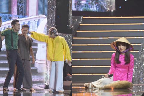 Tuyệt đỉnh song ca: Minh Luân bị đá túi bụi, Jang Mi bị đẩy ngã trên sân khấu