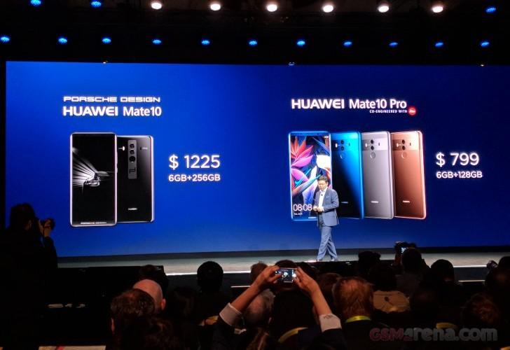 Huawei ra mắt Mate 10 Pro và Mate 10 Porsche Design