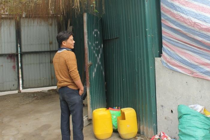 Một công nhân quê Vĩnh Phúc. Ảnh: Thanh Hải